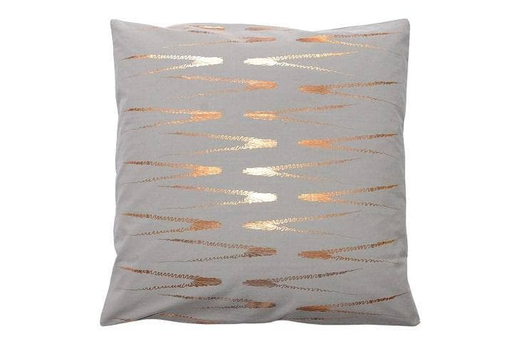 Evergreen Abstract Grey Print Cushion Cover