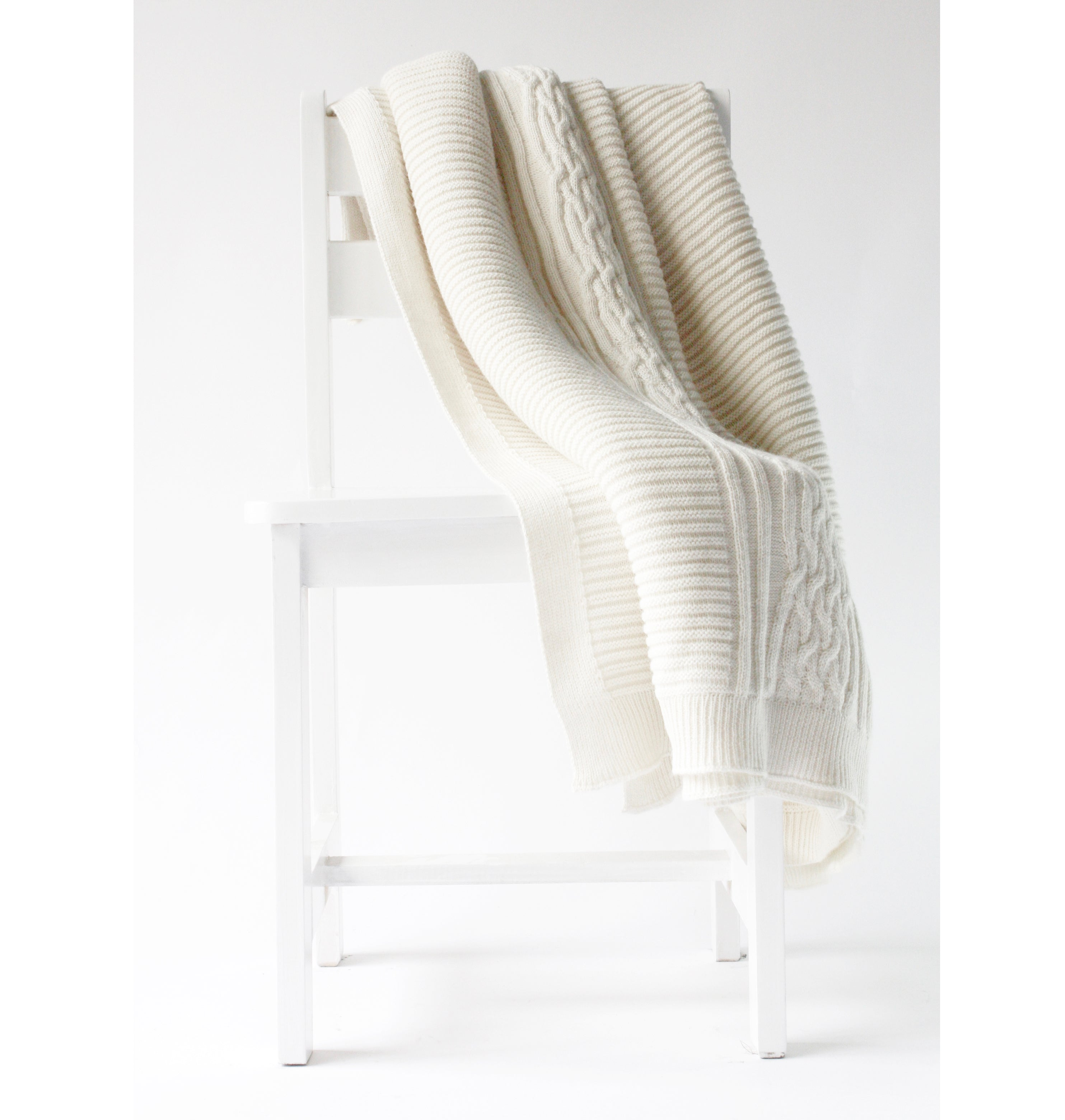 Holland Throw Ivory