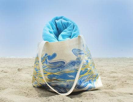 Claribel Earth Tote - Ocean