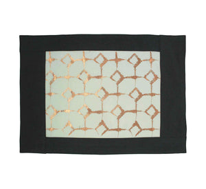 Signature Print Placemat Steel Blue & Ivory