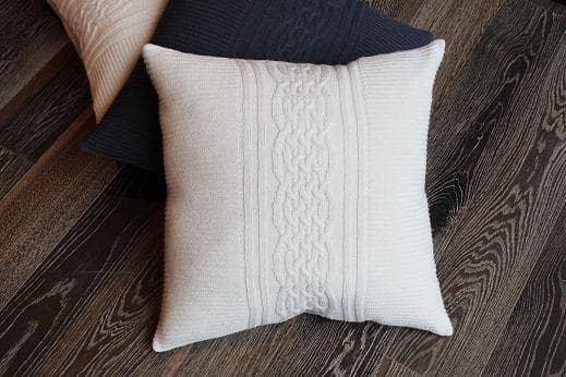 Baby Alpaca Ivory Cushion Cover