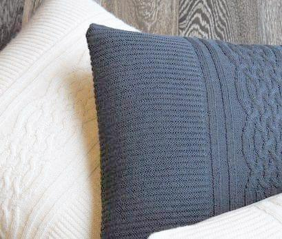 Baby Alpaca Steel Blue Cushion Cover