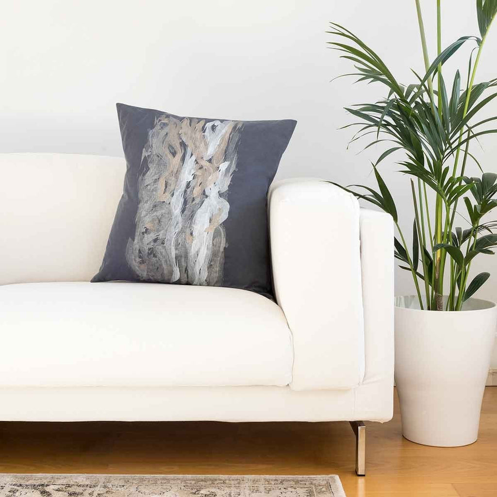 Bougainvillea Print Steel Blue Cushion Covers