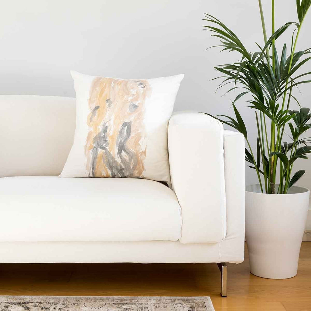 Bougainvillea Print Ivory Cushion Covers