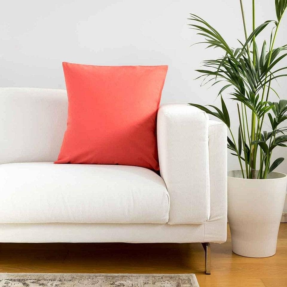 Plain Coral Cushion Covers