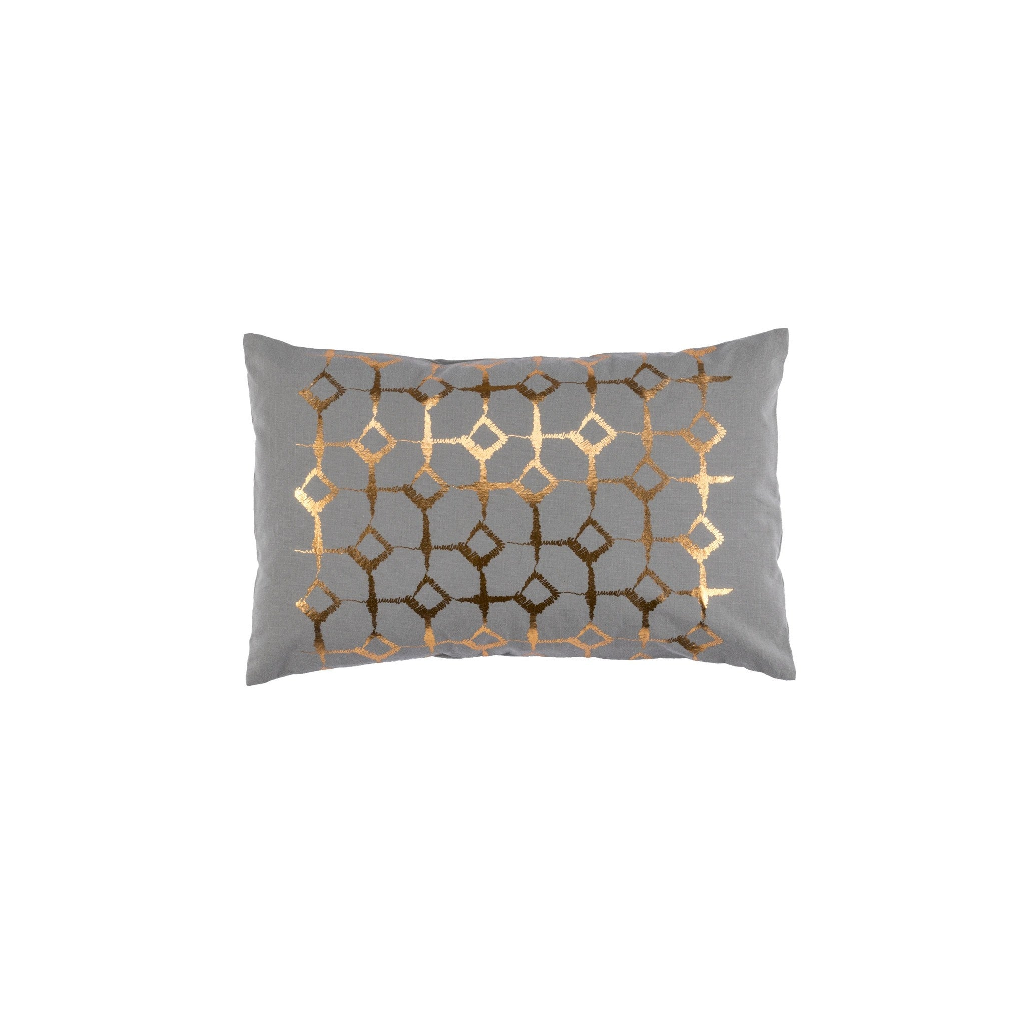 Signature Print Grey Cushion Covers