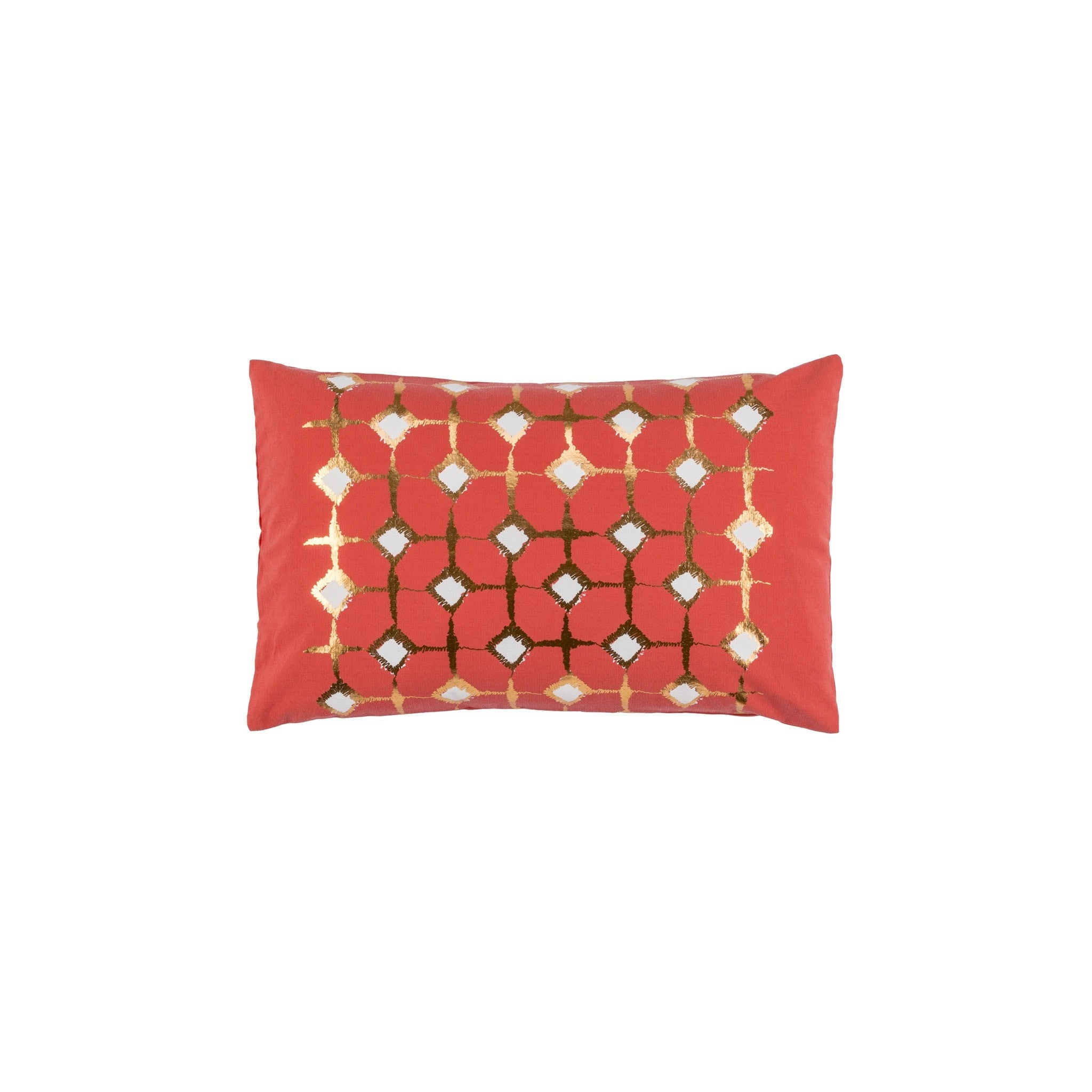 Signature Block Print Coral Cushion Covers