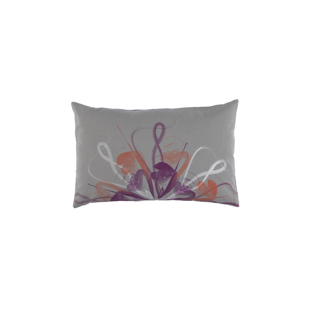 Ostrich Feather Print Grey Cushion Covers