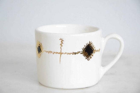 Signature Black and Gold Print Espresso Cup