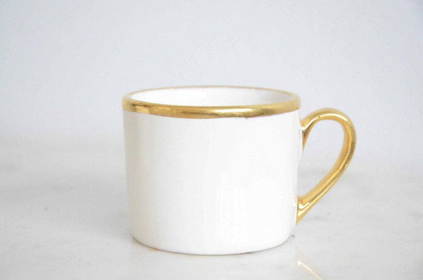 Signature Gold and Ivory Espresso Cup