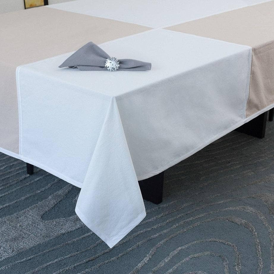 Tablecloths - Tablecloth In Beige & Ivory
