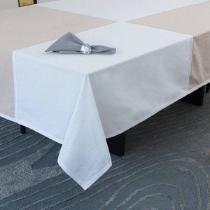 Tablecloth in Beige & Ivory