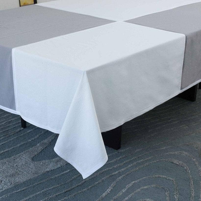 Tablecloth in Grey & Ivory