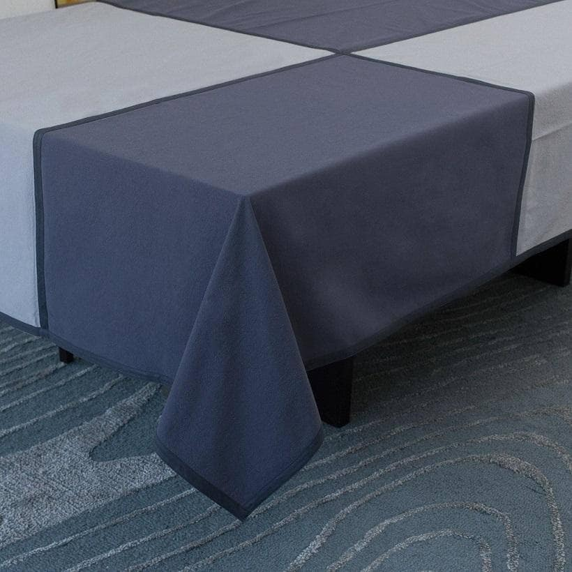 Tablecloth in Steel Blue & Grey