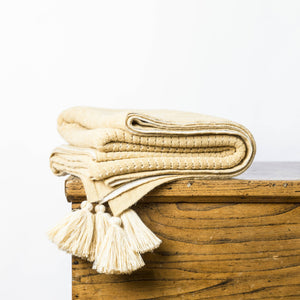 Throws - Chelsea Throw Maize & Ivory Throw