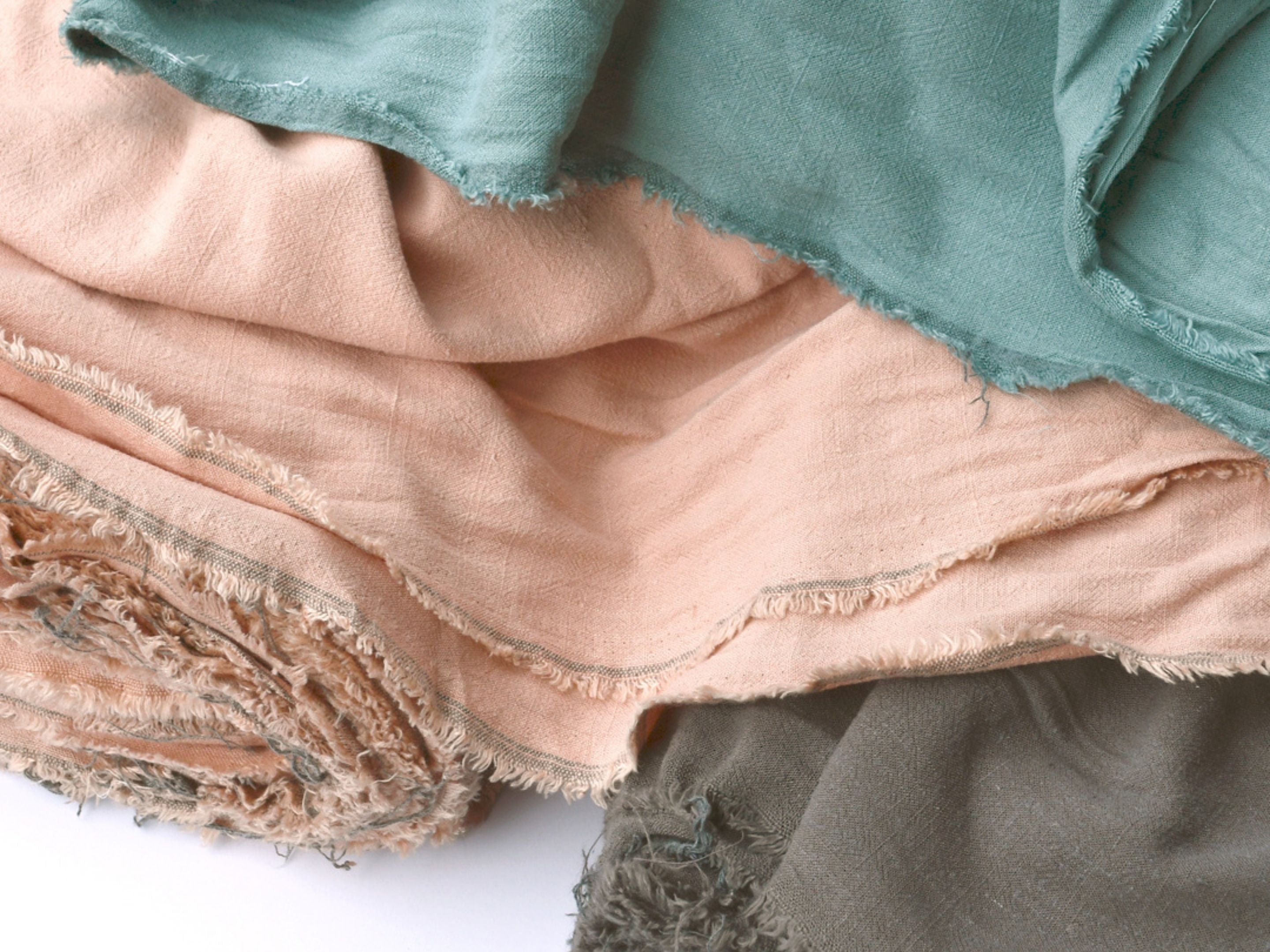 Linen and rayon blended fabrics