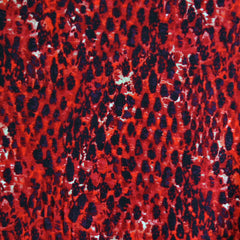 Jersey Knit Leopard Print Red/Black - Fabric - Style Maker Fabrics