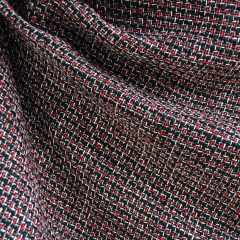 Tweed Boucle Black/Red/White SY