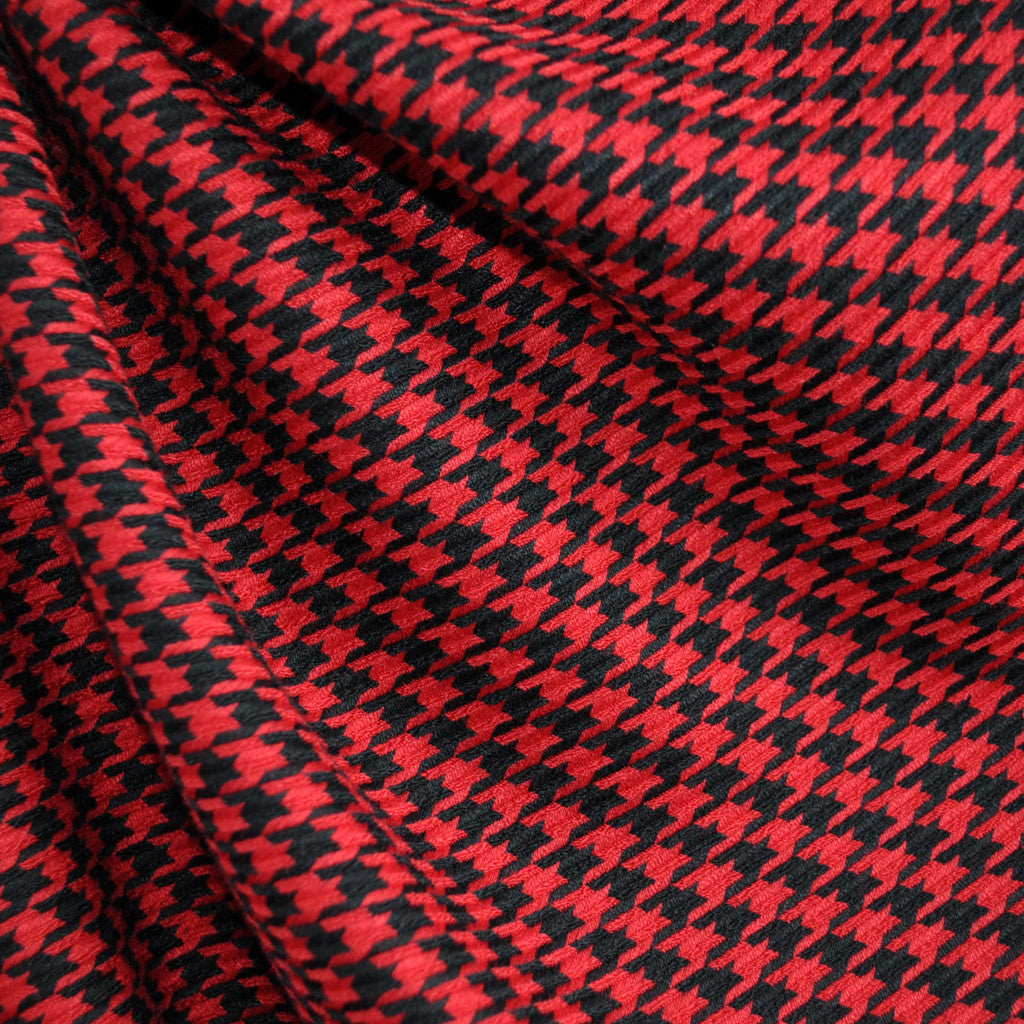 Woven Houndstooth Black/Red - Fabric - Style Maker Fabrics