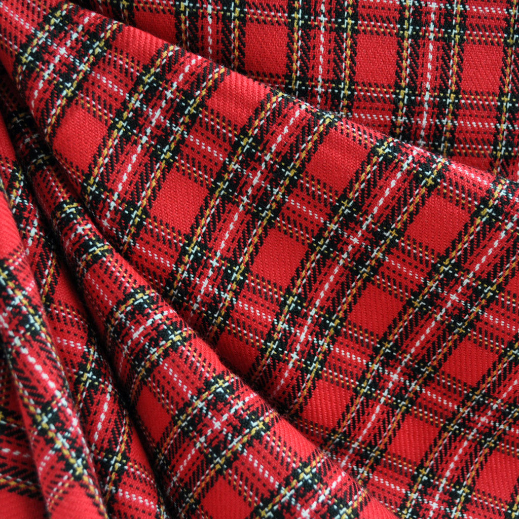 Tartan Plaid Red - Fabric - Style Maker Fabrics