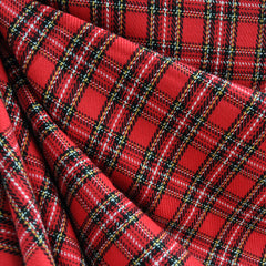 Tartan Plaid Red SY - Sold Out - Style Maker Fabrics