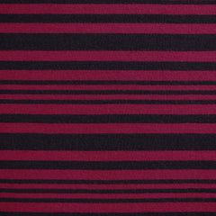 Jersey Knit Stripe Black/Aubergine - Fabric - Style Maker Fabrics