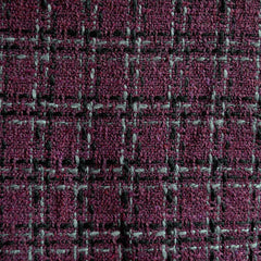 Plaid Boucle Aubergine/Grey/Black - Sold Out - Style Maker Fabrics