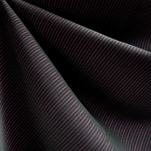 Pin Stripe Suiting Black/Plum