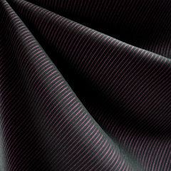 Pin Stripe Suiting Black/Plum - Sold Out - Style Maker Fabrics