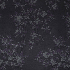 Floral Jacquard Stretch Denim Plum/Grey - Sold Out - Style Maker Fabrics