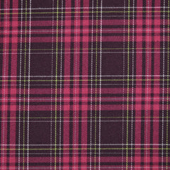 Yarn Dyed Plaid Shirting Plum - Fabric - Style Maker Fabrics