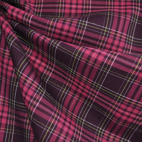 Yarn Dyed Plaid Shirting Plum