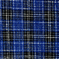 Plaid Boucle Royal/Black/White - Sold Out - Style Maker Fabrics