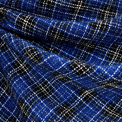 Plaid Boucle Royal/Black/White