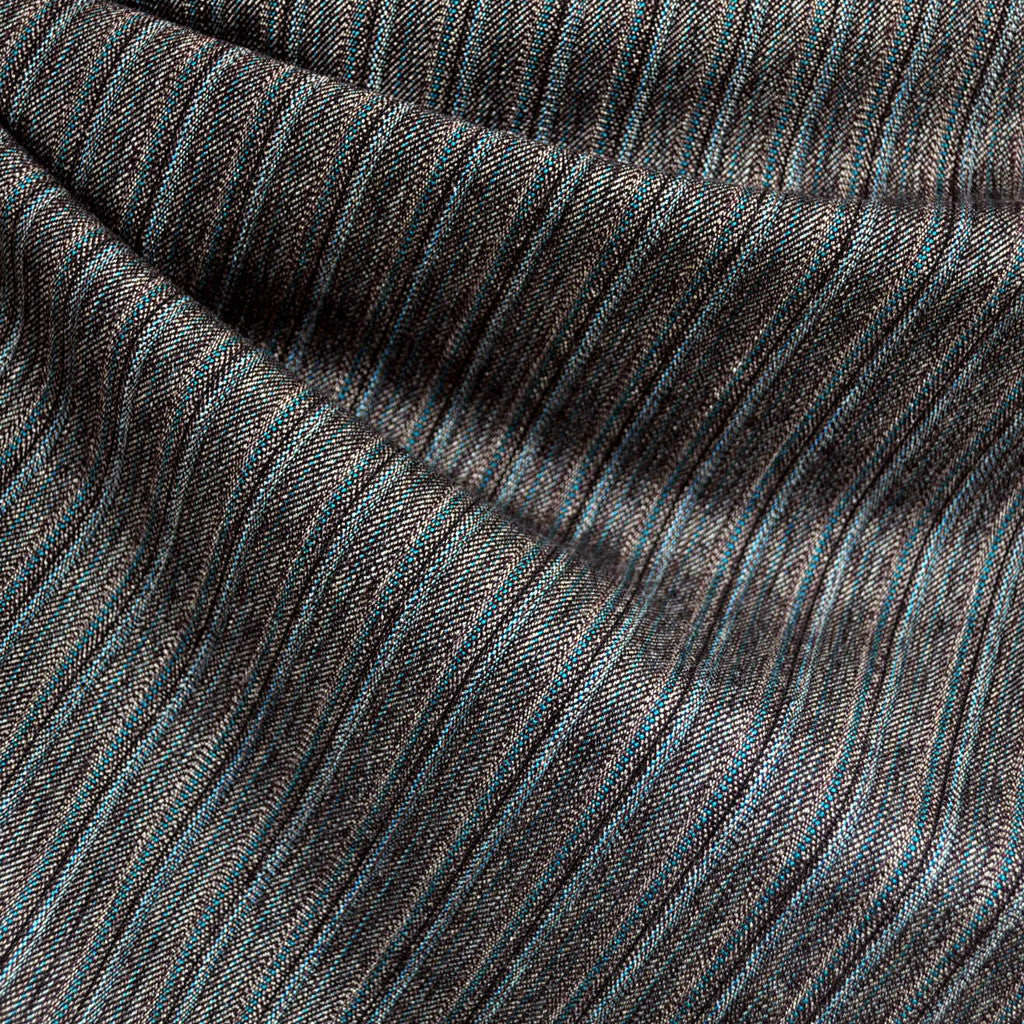 Stripe Suiting Grey/Teal - Fabric - Style Maker Fabrics