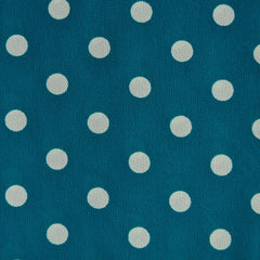 Rayon Crepe Dot Teal/White - Fabric - Style Maker Fabrics