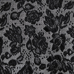 Ponte Knit Floral Lace Print Black/Grey - Sold Out - Style Maker Fabrics