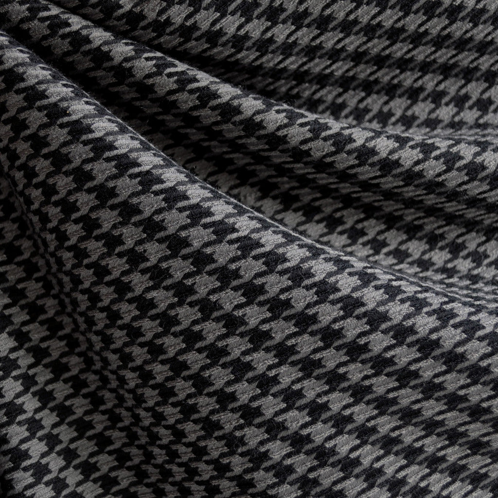 Woven Houndstooth Black/Grey - Fabric - Style Maker Fabrics