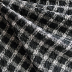 Cotton Plaid Shirting Grey/Black/Silver SY - Sold Out - Style Maker Fabrics