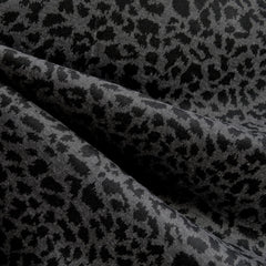 Ponte Knit Leopard Print Grey/Black SY - Sold Out - Style Maker Fabrics