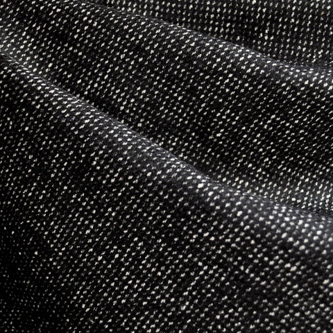 Wool Blend Tweed Texture Black/White