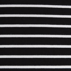 Jersey Knit Pencil Stripe Black/White - Sold Out - Style Maker Fabrics