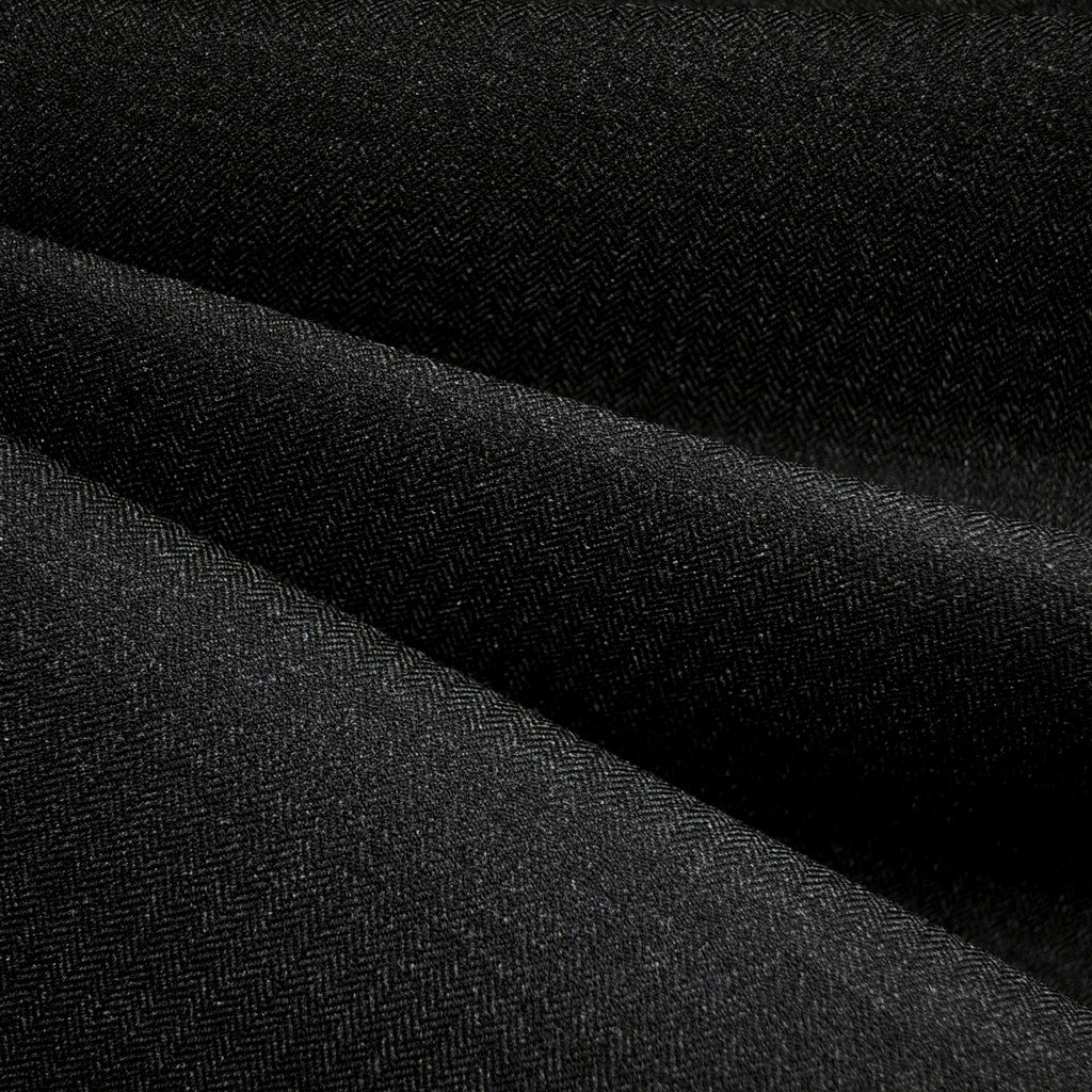 Herringbone Stretch Suiting Charcoal - Sold Out - Style Maker Fabrics