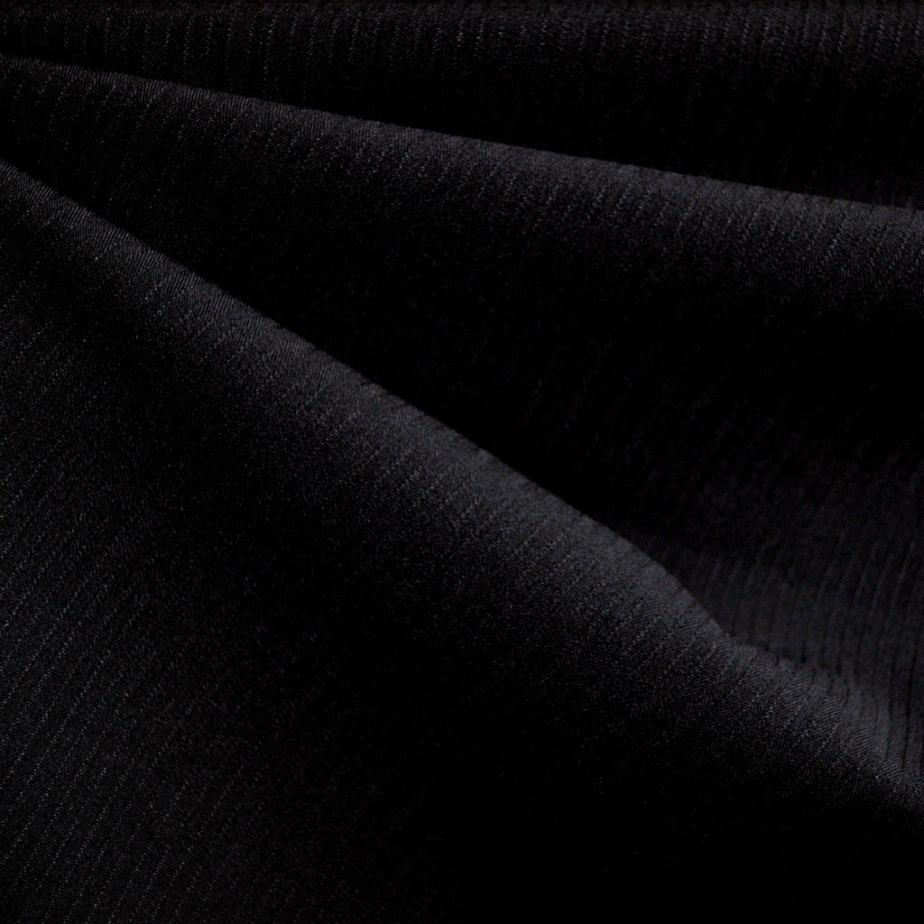 Pinstripe Suiting Black - Fabric - Style Maker Fabrics