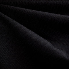 Pinstripe Suiting Black SY - Selvage Yard - Style Maker Fabrics