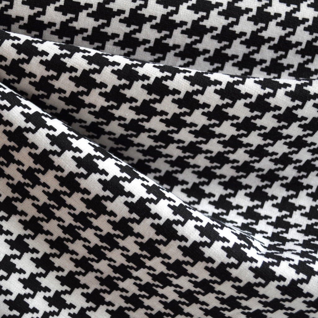 Ponte Knit Houndstooth Black/White - Sold Out - Style Maker Fabrics