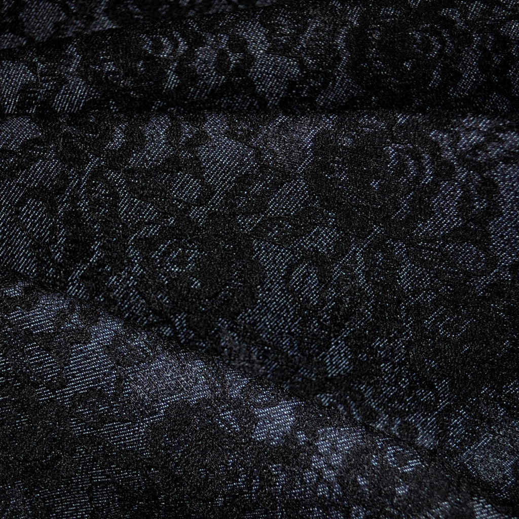 Lace Overlaid Deimn Black/Denim - Sold Out - Style Maker Fabrics