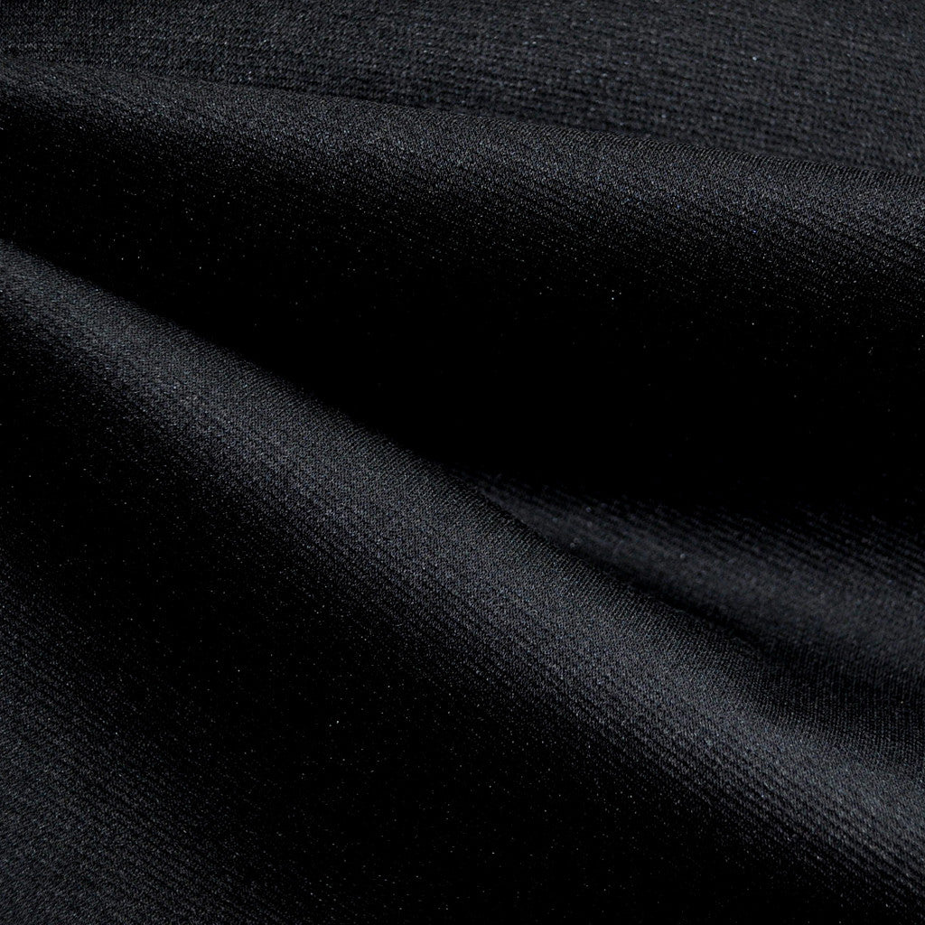 Ponte Knit Solid Black - Sold Out - Style Maker Fabrics