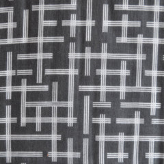 Ellen Baker Double Gauze Broken Plaid Charcoal - Sold Out - Style Maker Fabrics