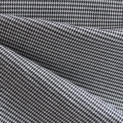 Mini Houndstooth Suiting Black/White - Fabric - Style Maker Fabrics